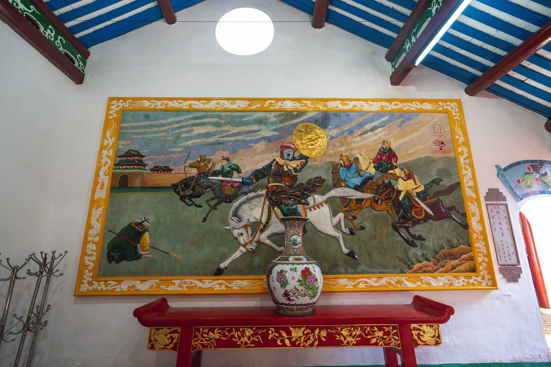 A large lacquered painting - Hoi An Temples and Pagodas