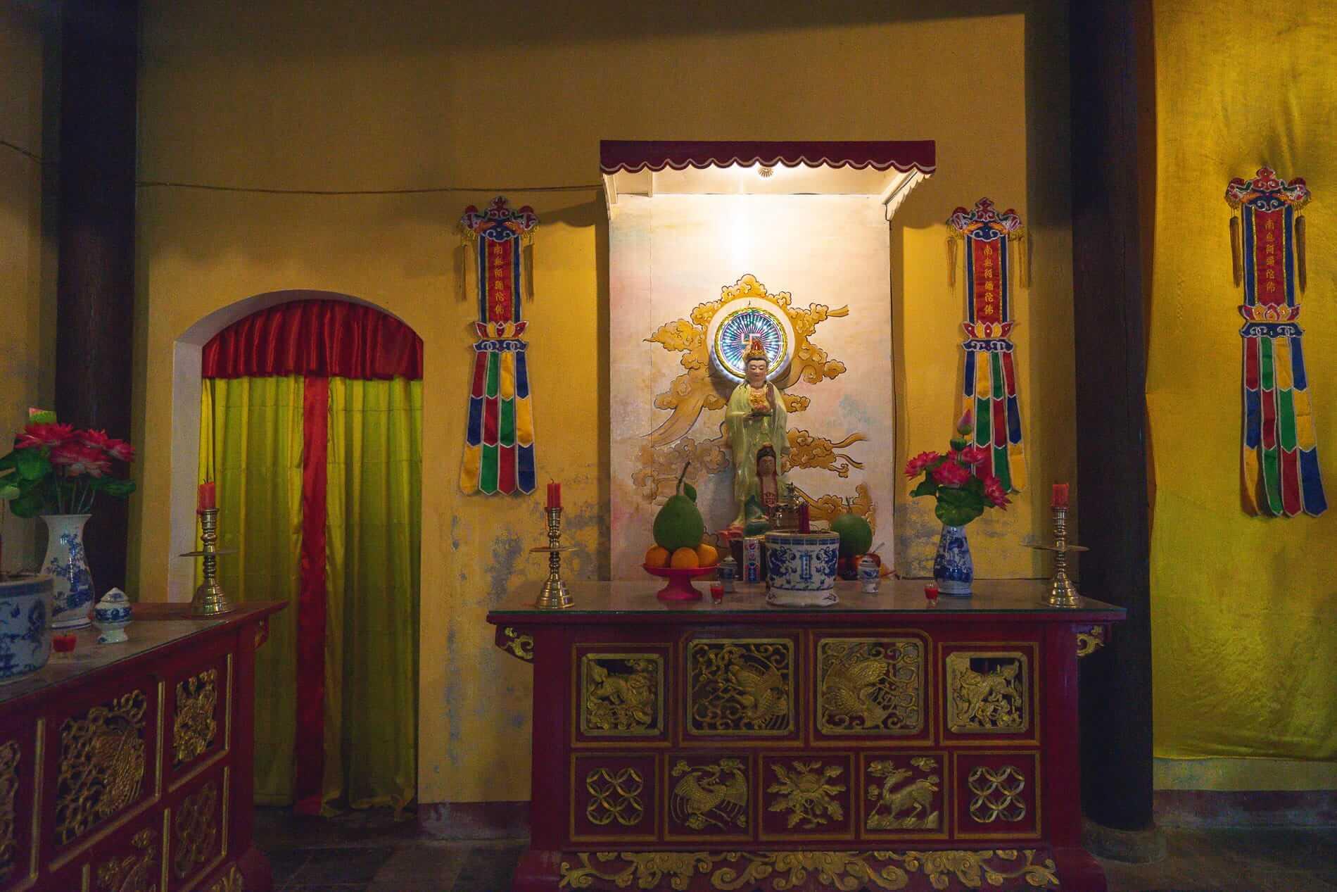 A modest shrine at Quan Am Pagoda - Hoi An Temples and Pagodas