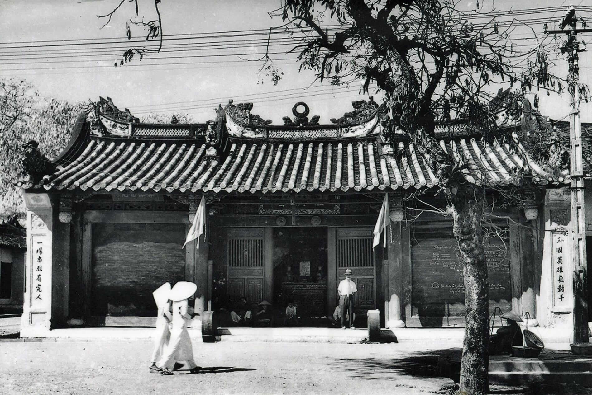 An old picture of a temple- Hoi An Temples and Pagodas