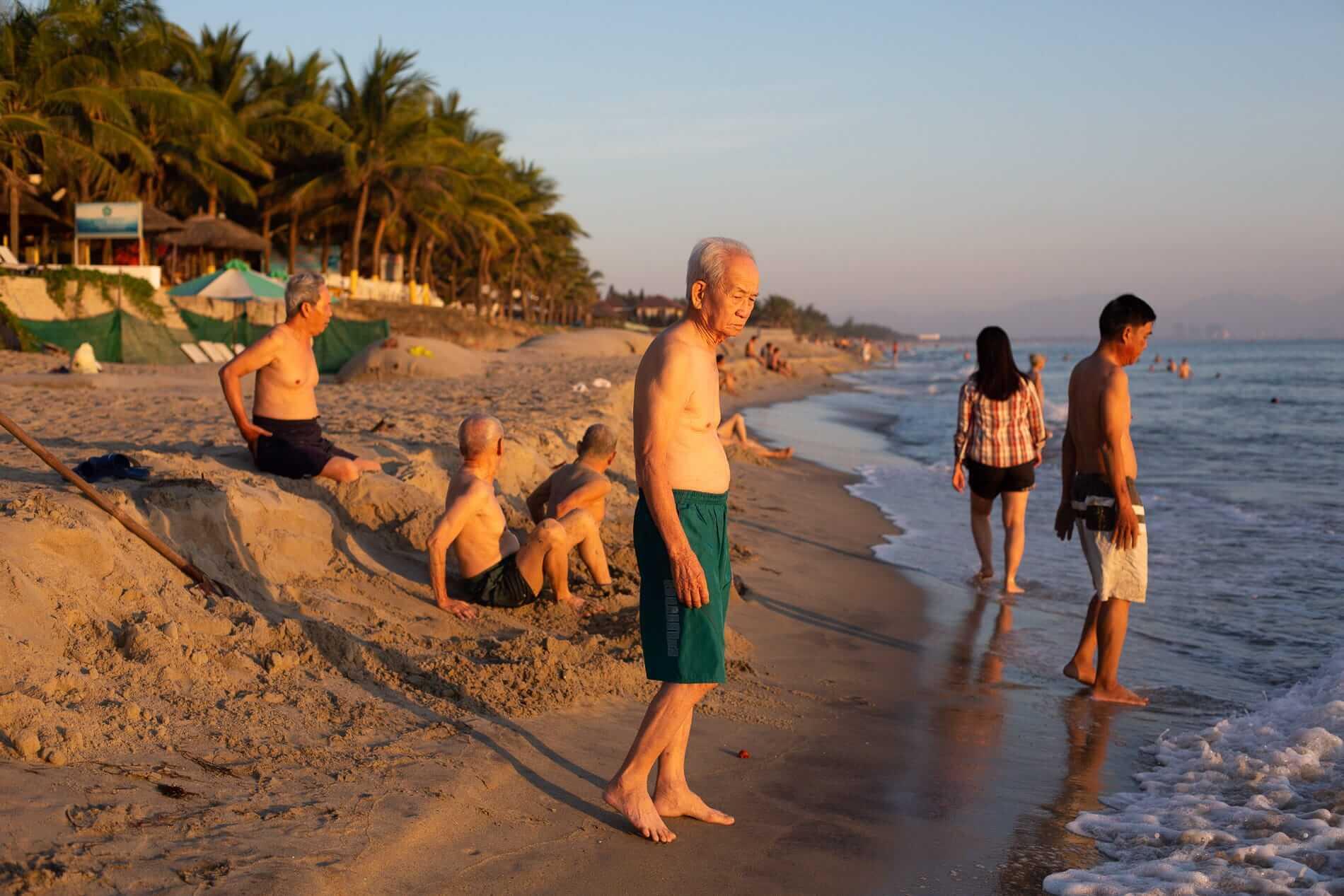 Dawn at the beach in Hoi An