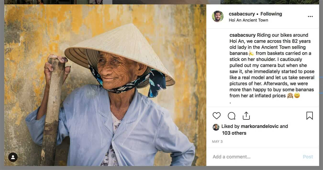 Hoi An banana seller - Instagram Guide to Hoi An