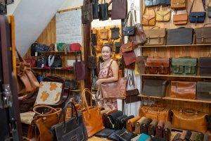 Le Phan Leather shop owner Titu