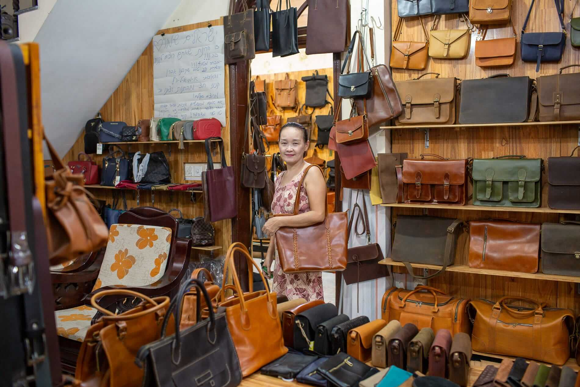 Le Phan Leather shop owner Titu