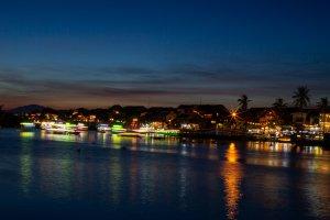 Hoi An riverside at night