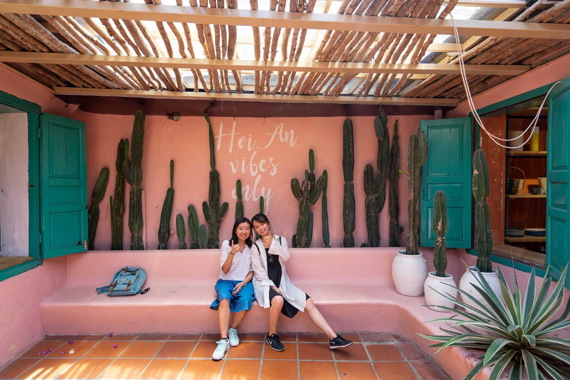 Pink walls at Sunday In Hoi An