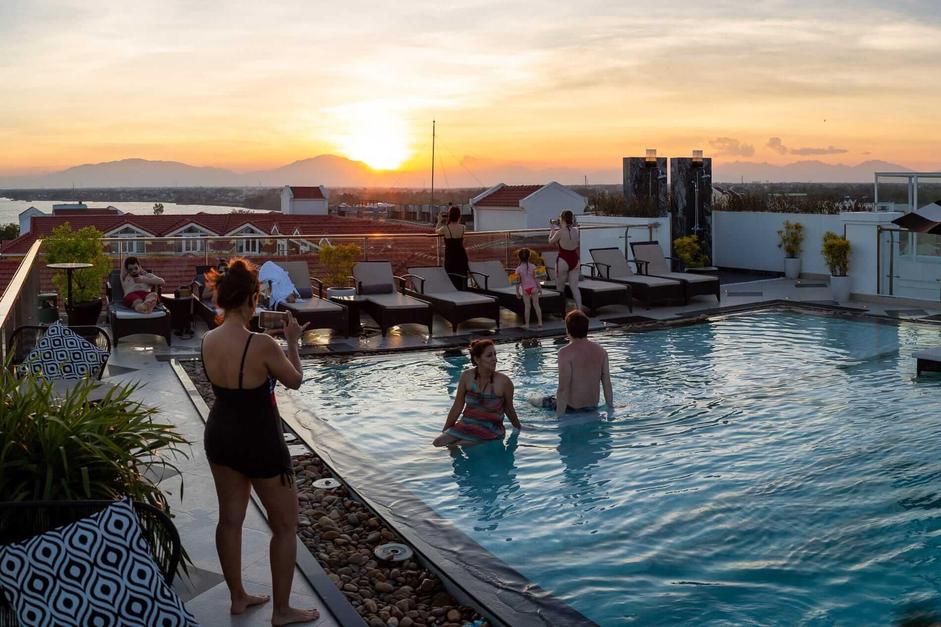 Hoi An Rooftop bar at Sunset