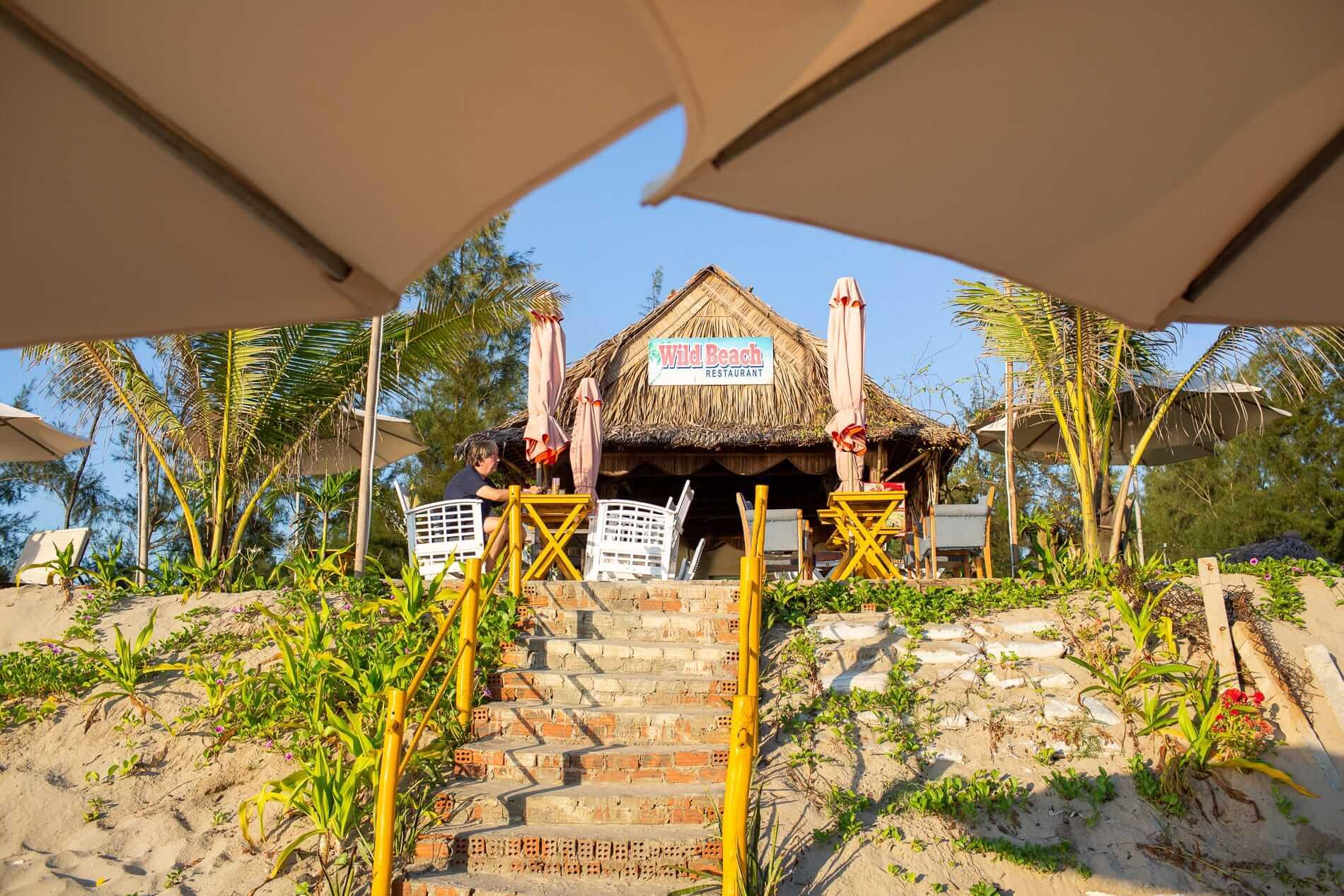 Wild beach restaurant