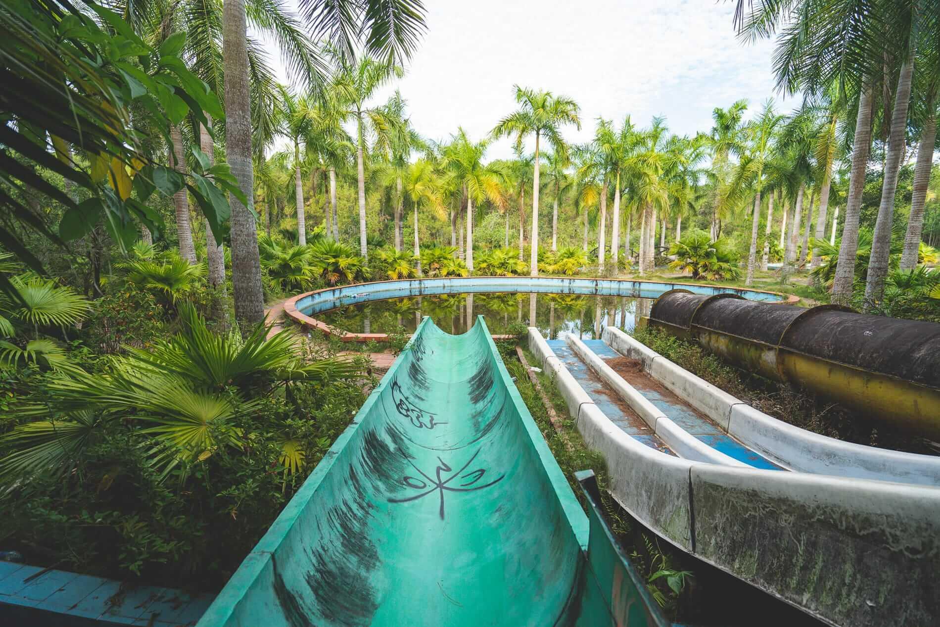 Dirty old slides - Hues Abandoned Water Park
