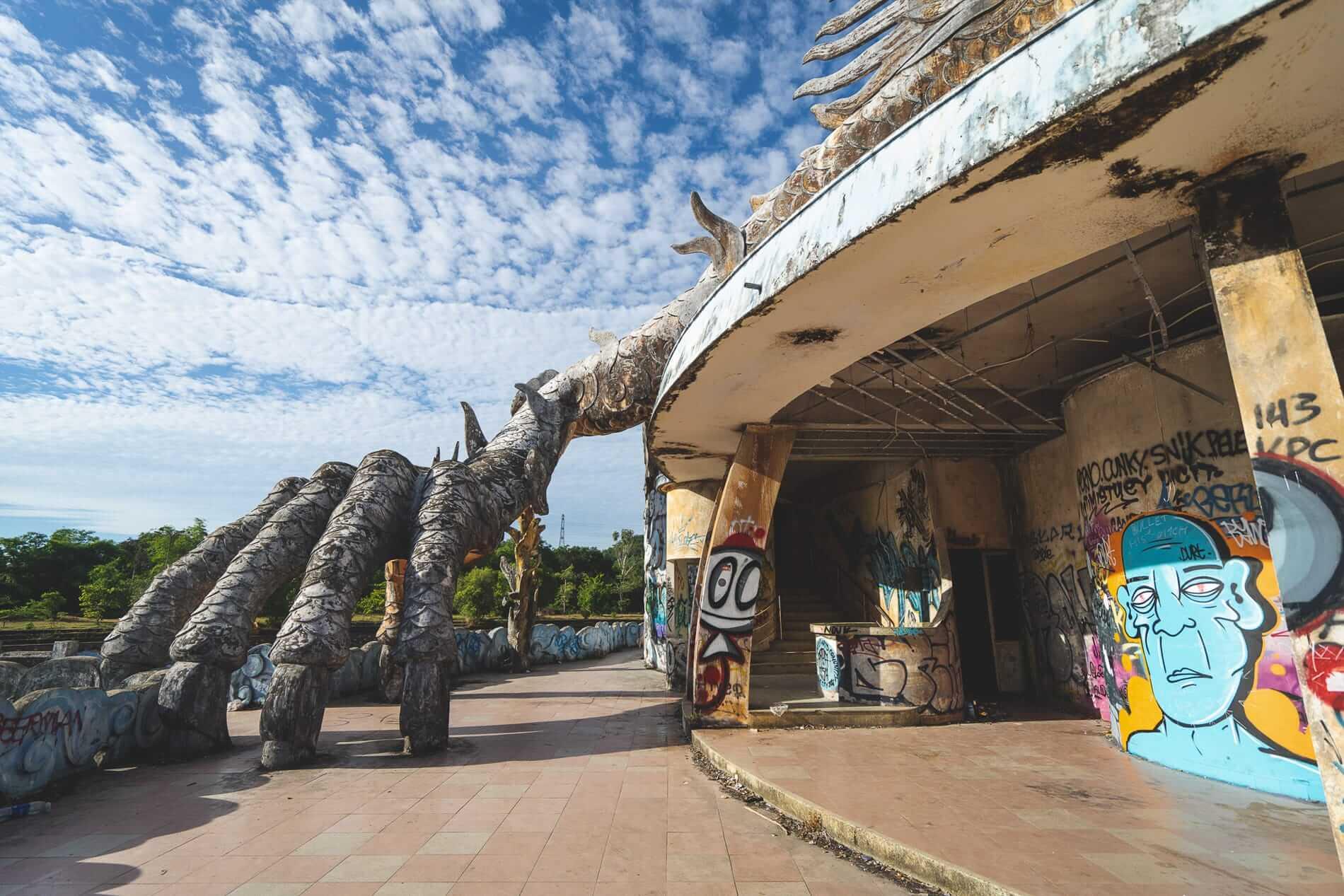 Incomplete brick villa - Hue's abandoned water park