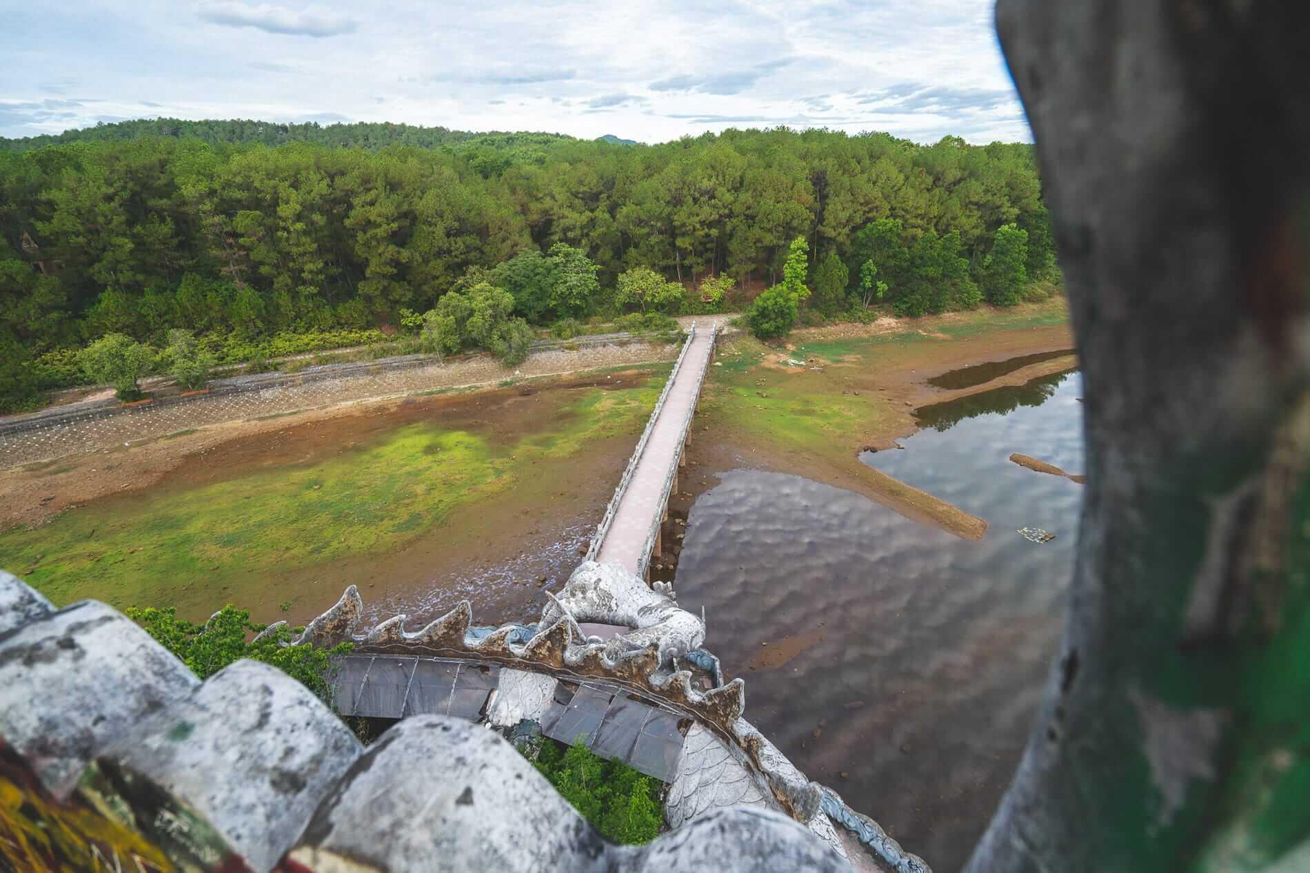 """man-made """"lake - Hue's abandoned water park"""