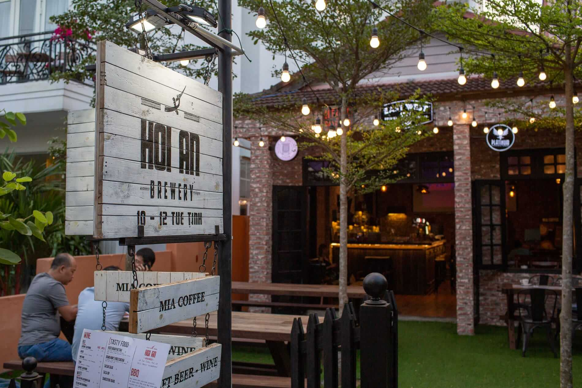 The garden at Hoi An Brewery - Craft Beer in Hoi An