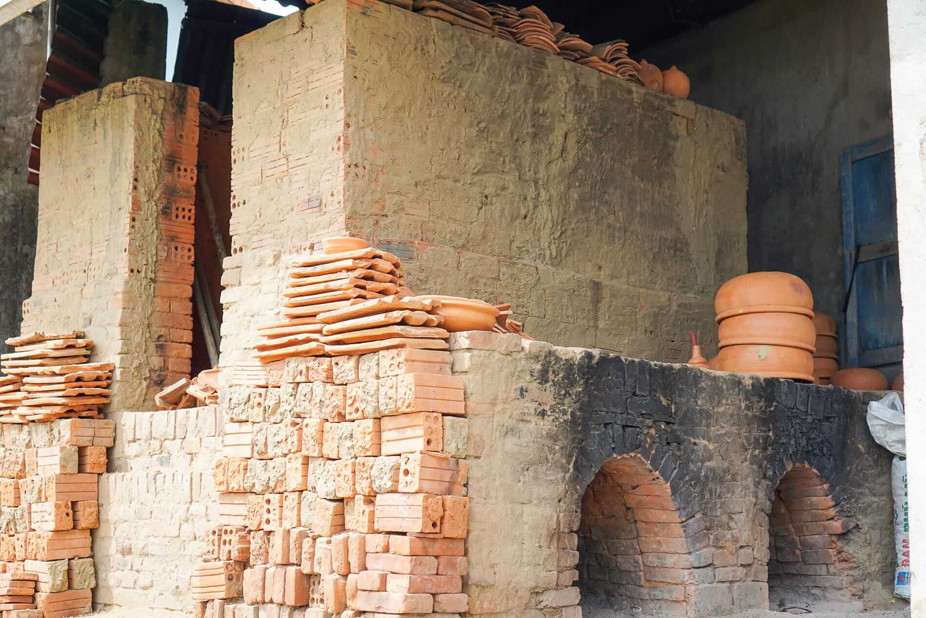 Wood fired kilns in Thanh Ha - Pottery Village