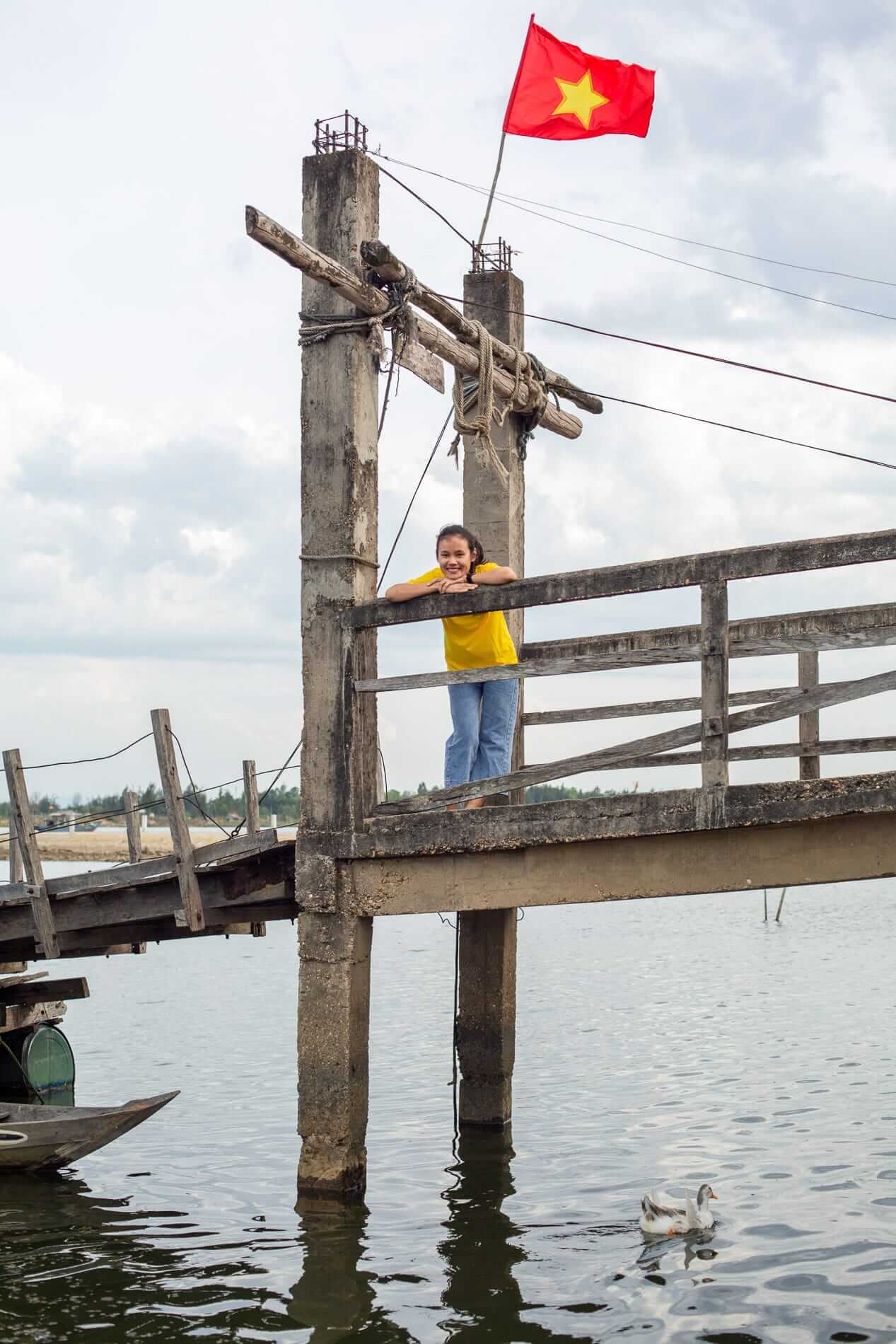 Tram at the floating bridge - What to do in Hoi An
