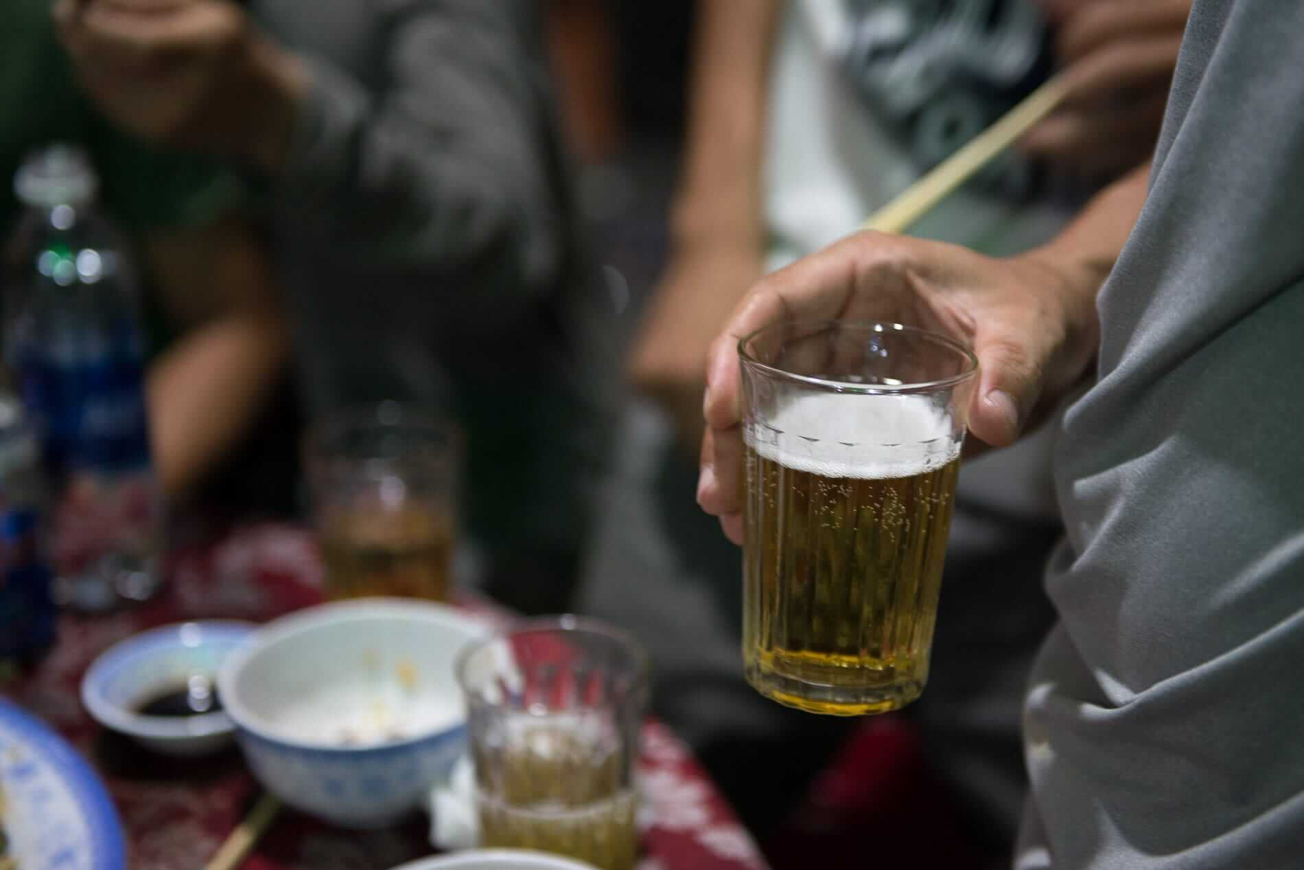 A glass of beer in Hoi An