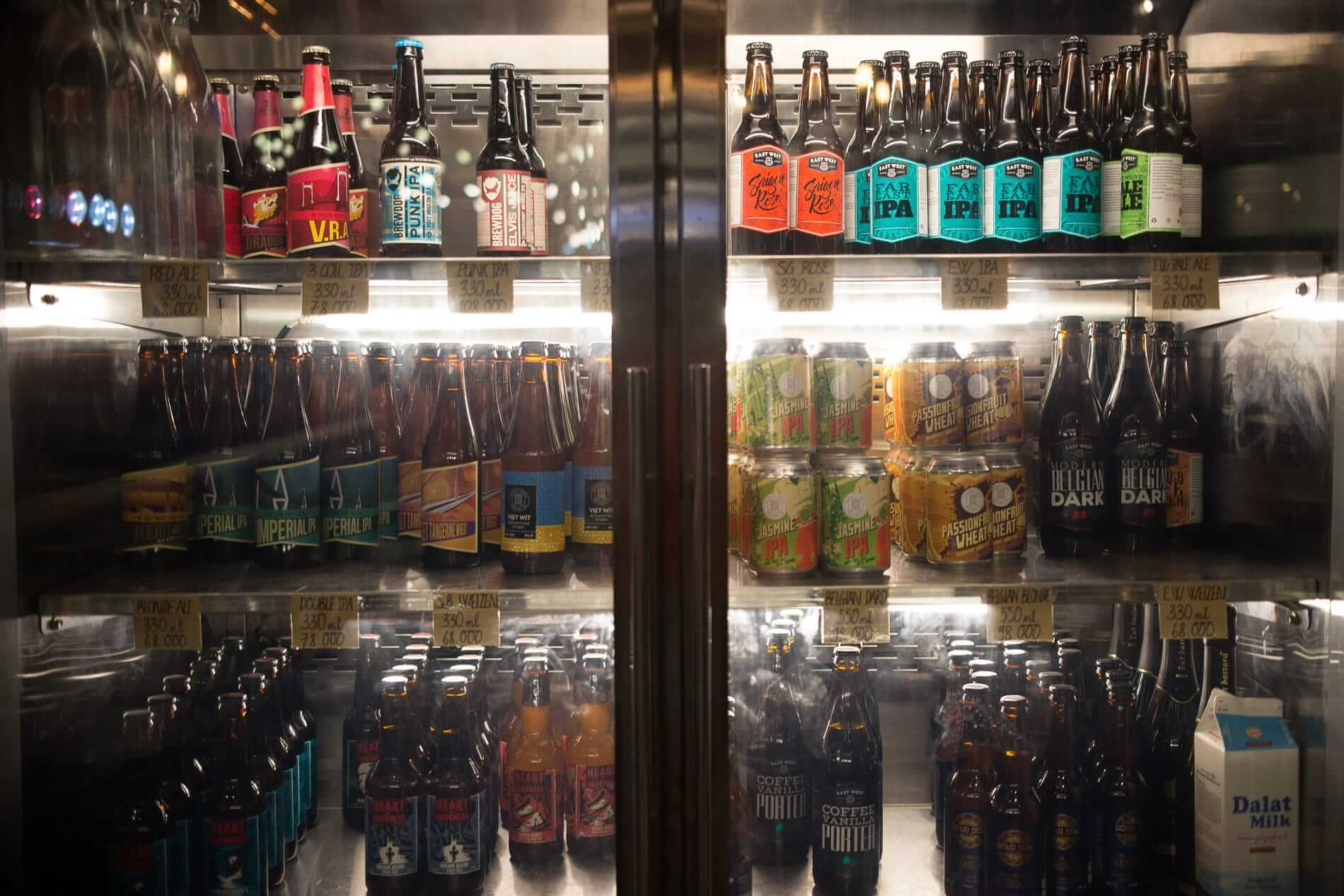 A well stocked fridge - Craft Beer in Hoi An