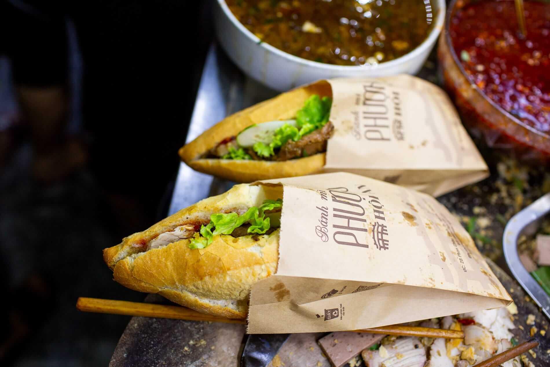 The famous Banh Mi Phuong sandwich