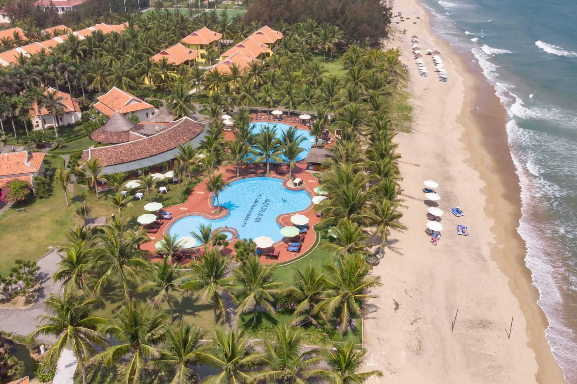 Beachside pool Tropical Beach Resort - Hoi An Beach Resorts