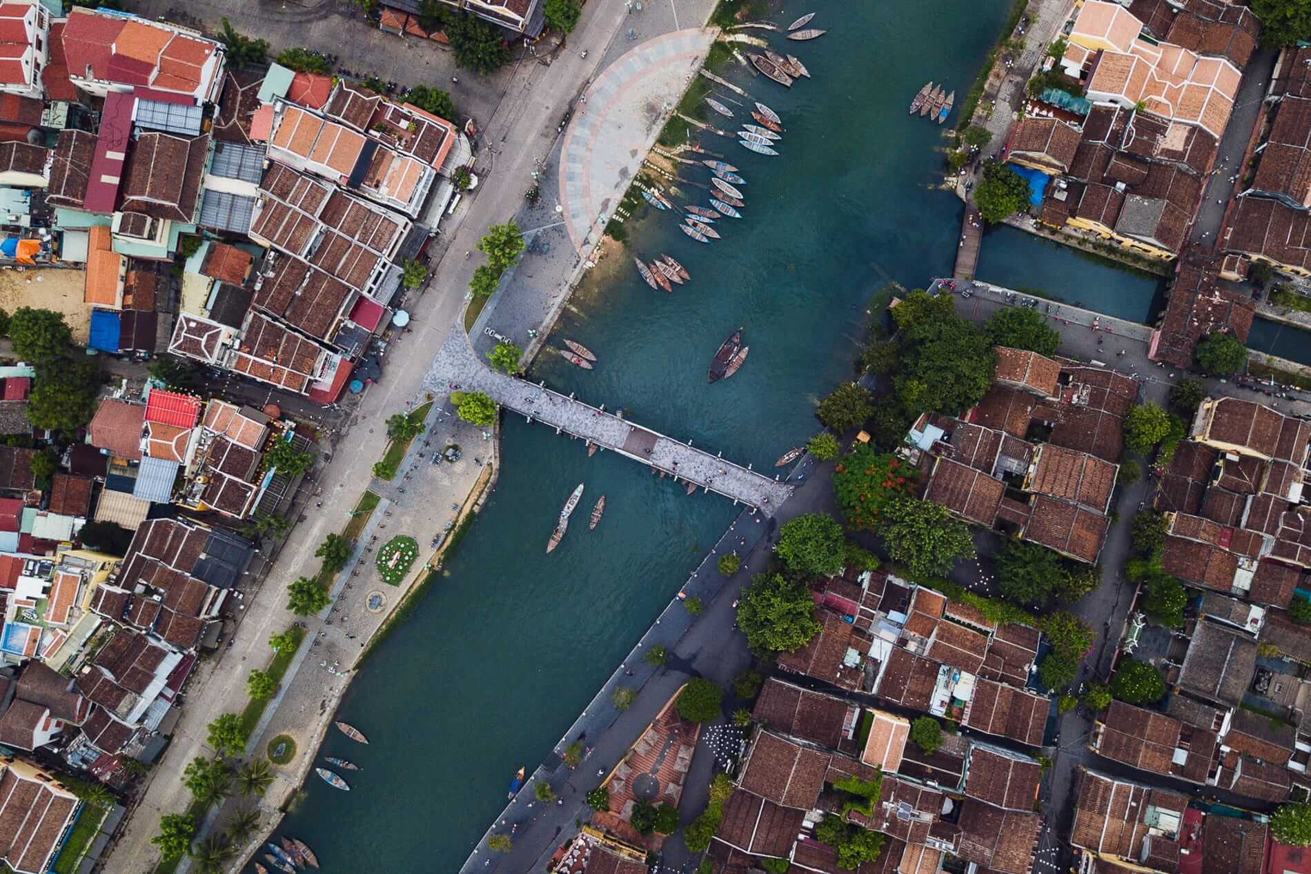 Hoi An Ancient Town seen from above