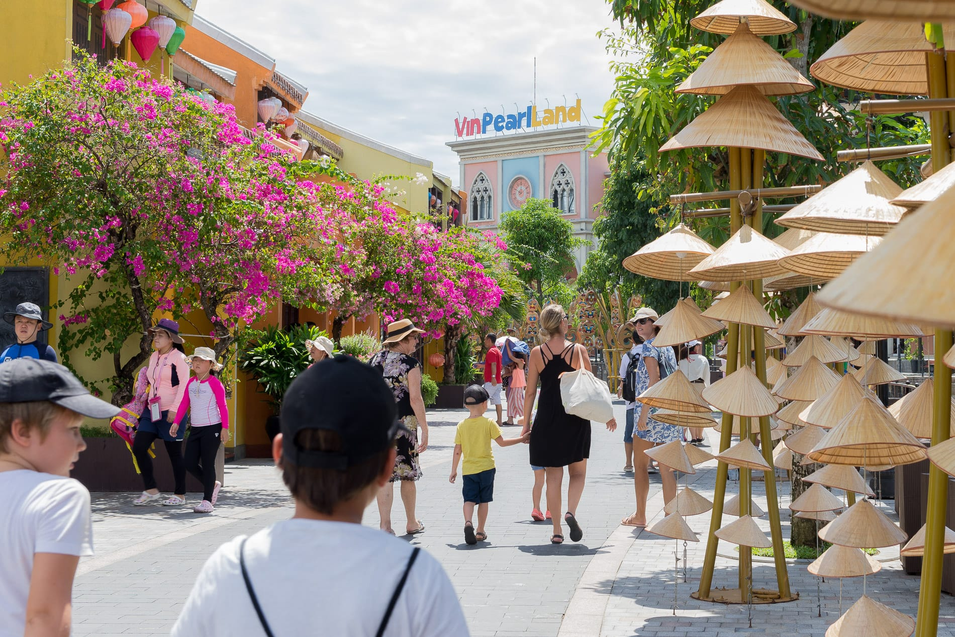 Holidaymakers at VinPearl Land