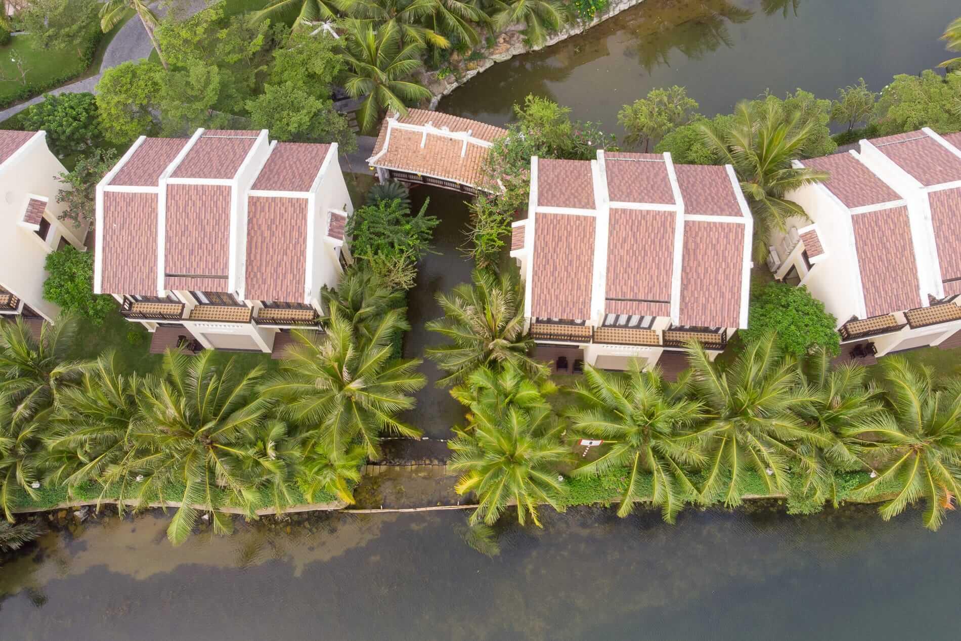Aerial view of Koi Resort