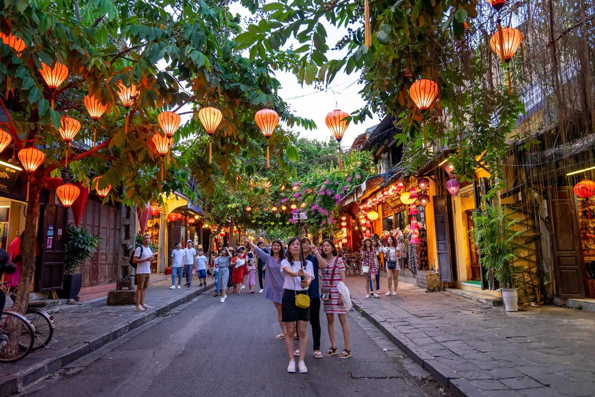 Lantern lined streets