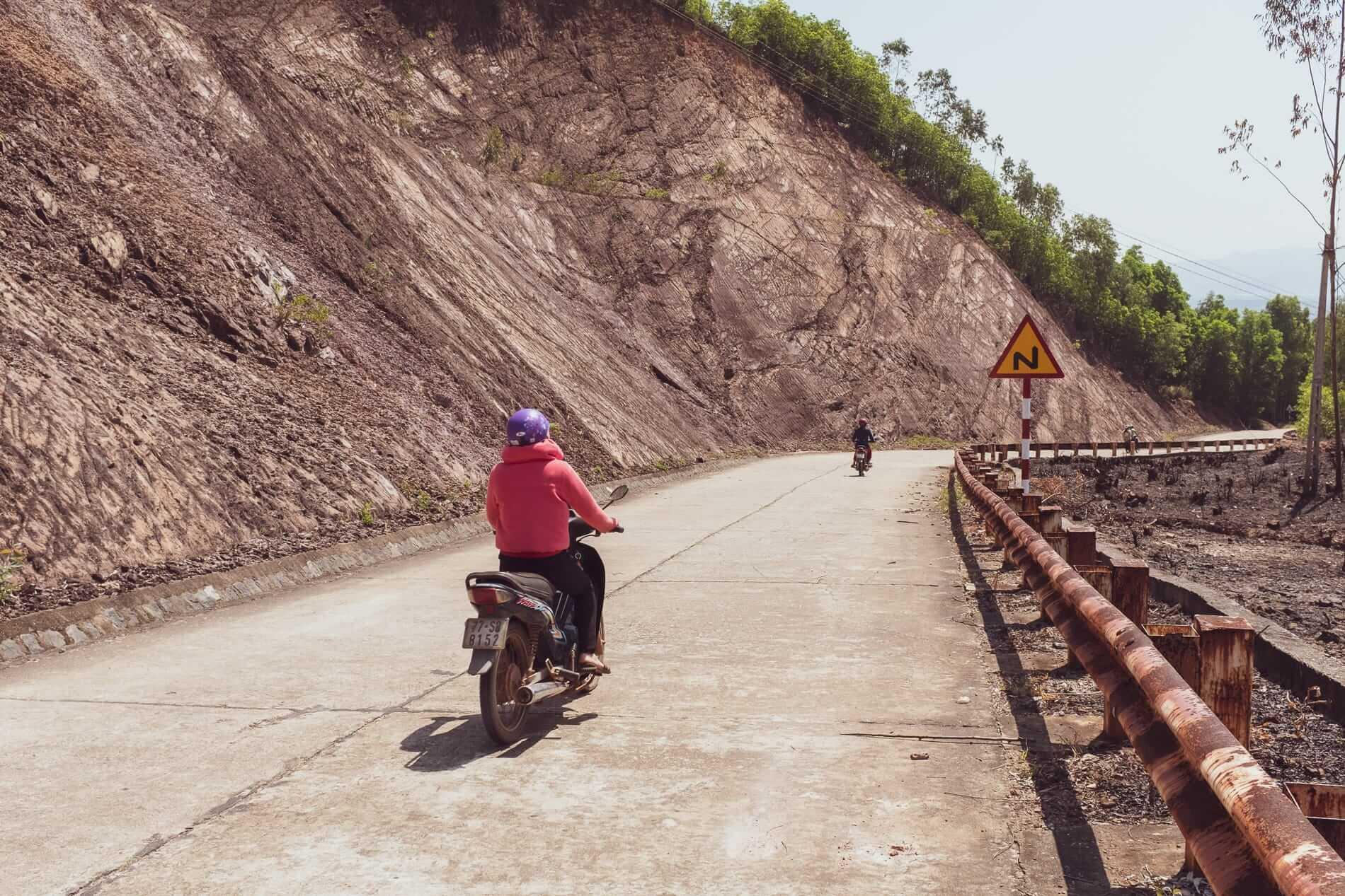 Motorbikes on mountain roads