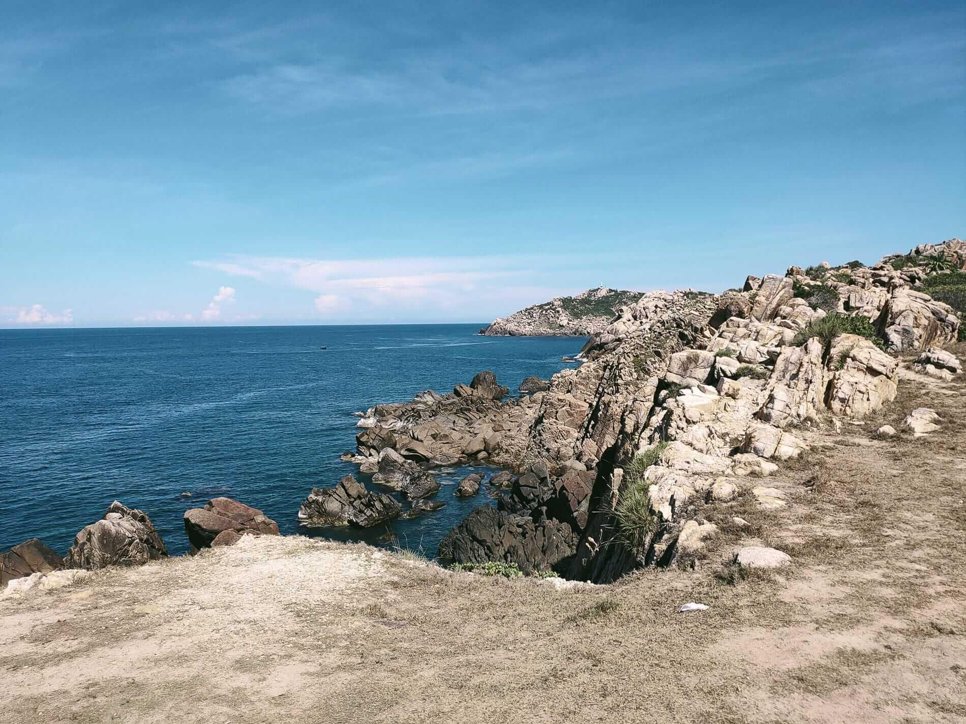Beaten track on Quy Nhon's wild coastline