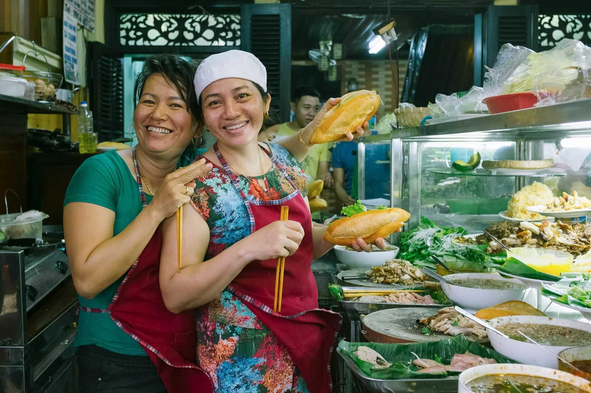 Staff at Banh Mi Phuong
