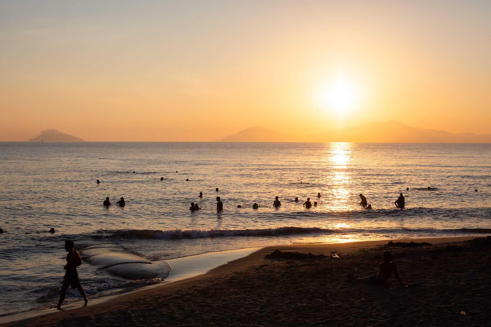 Sun rises behind the Cham Islands