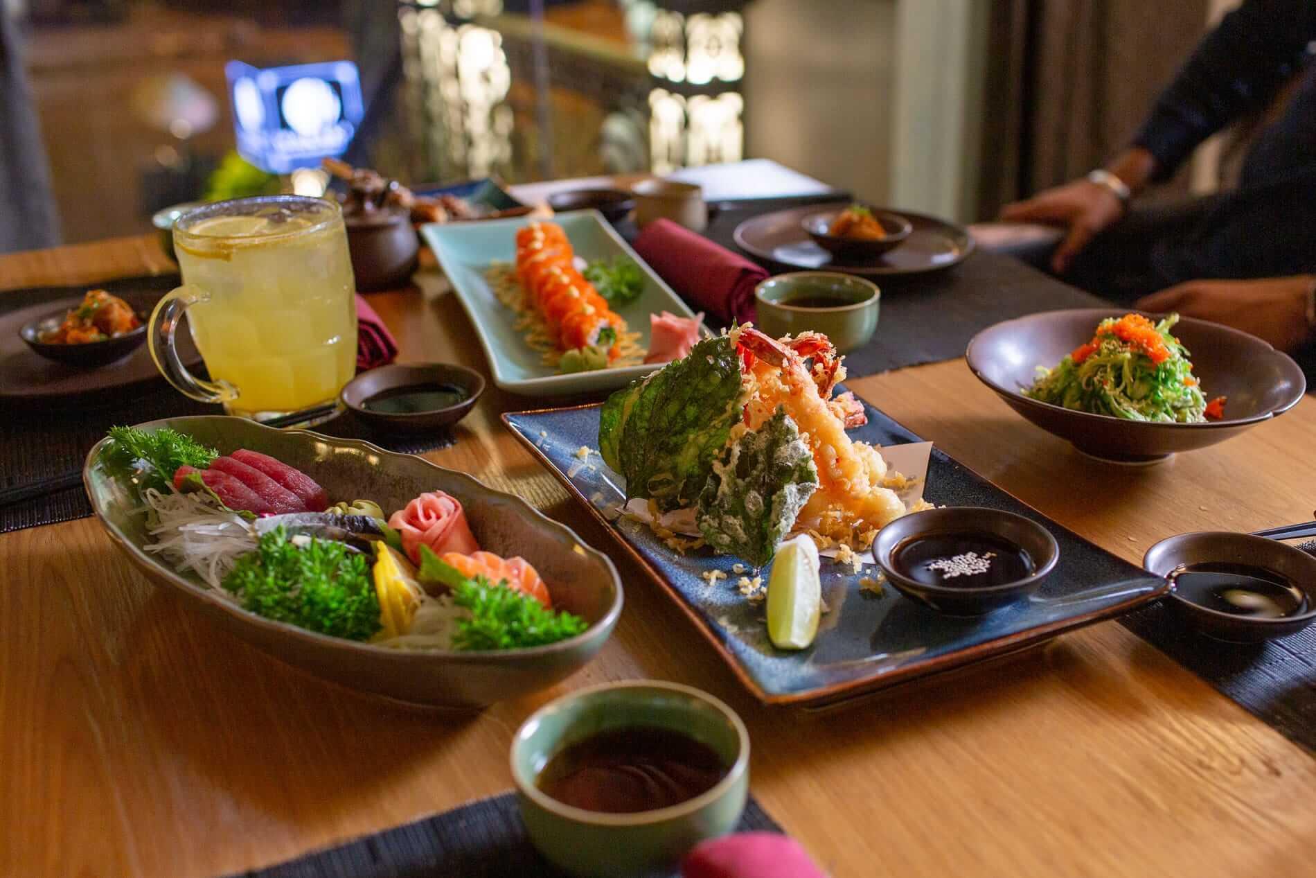 Wakaku Restaurant table