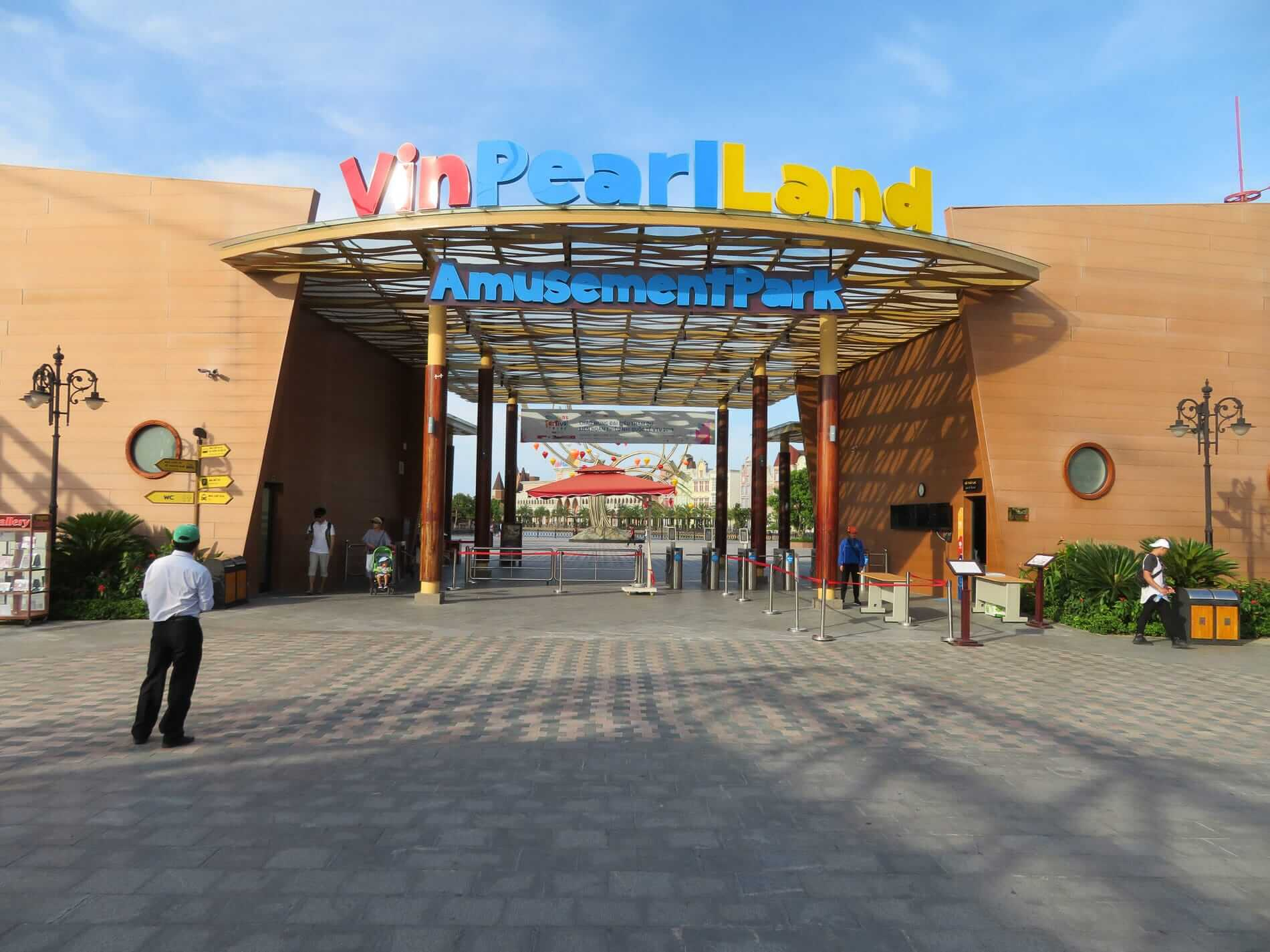 The entrance gates at Hoi An's VinPearl Land amusement park
