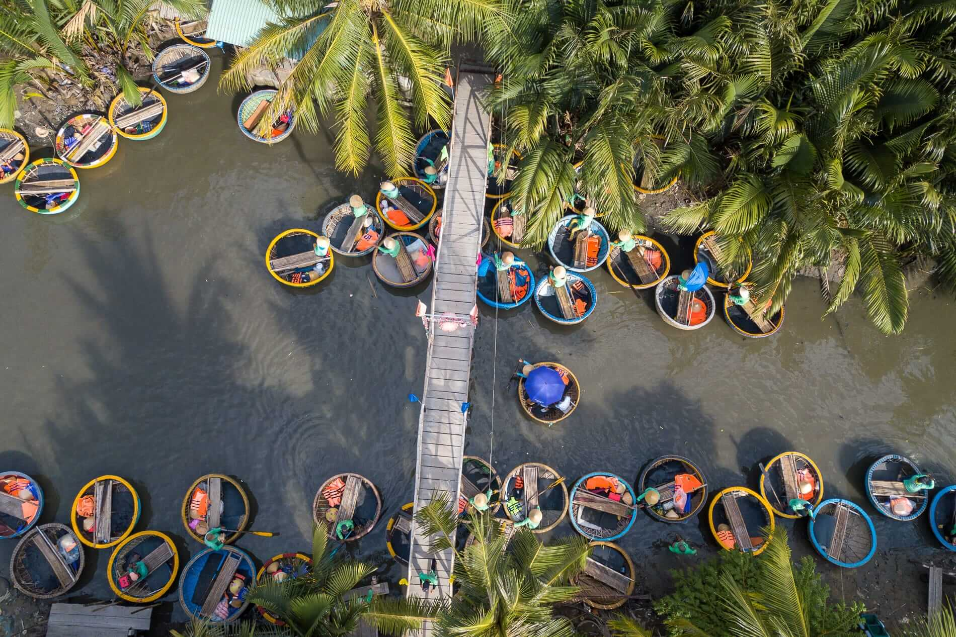 the Coconut Boat Village in Hoi An