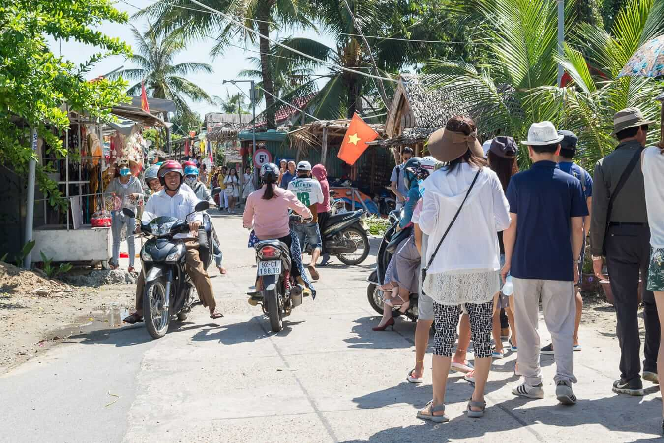The Coconut Village is full of tourists