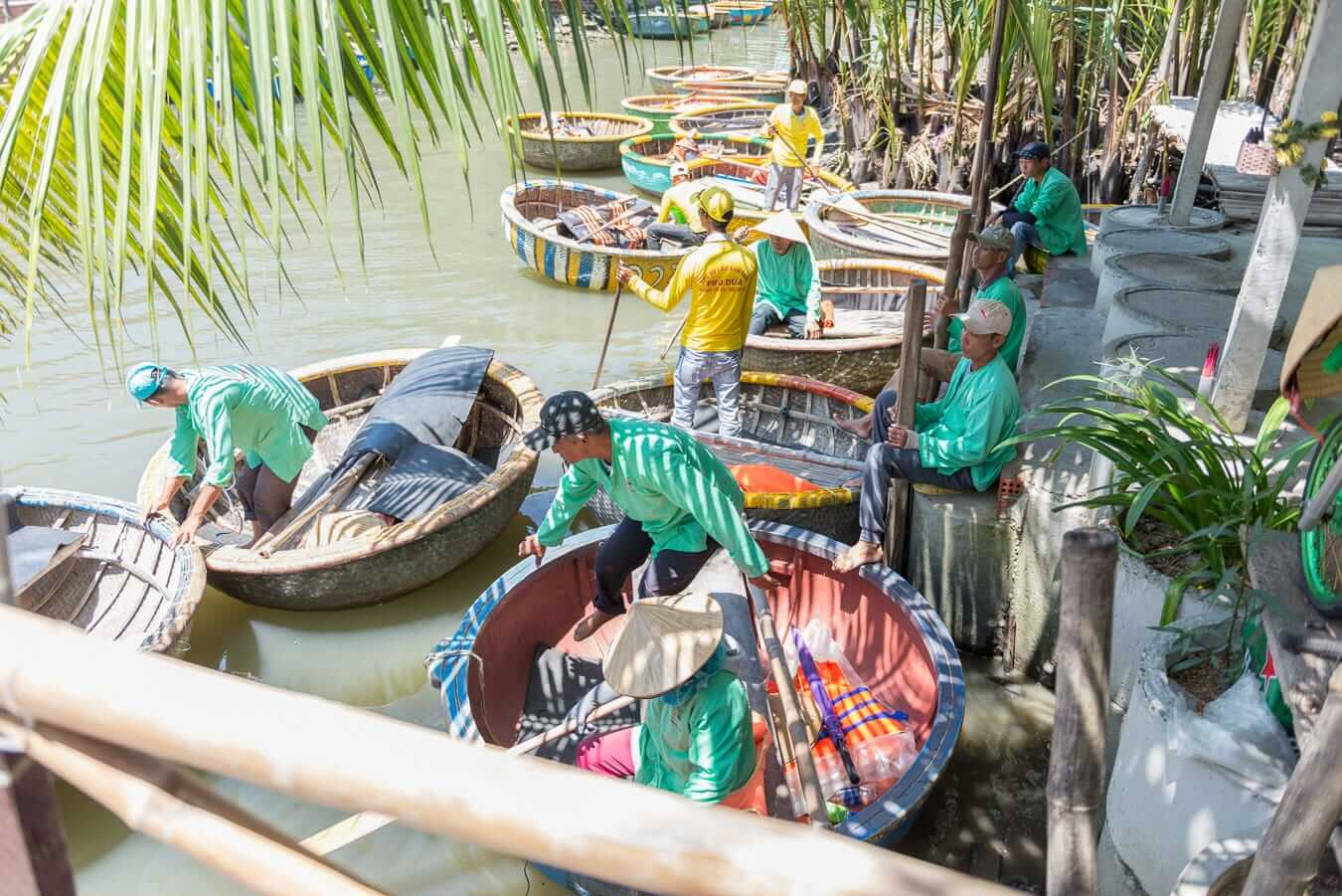 A busy day at Cam Thanh Coconut Village