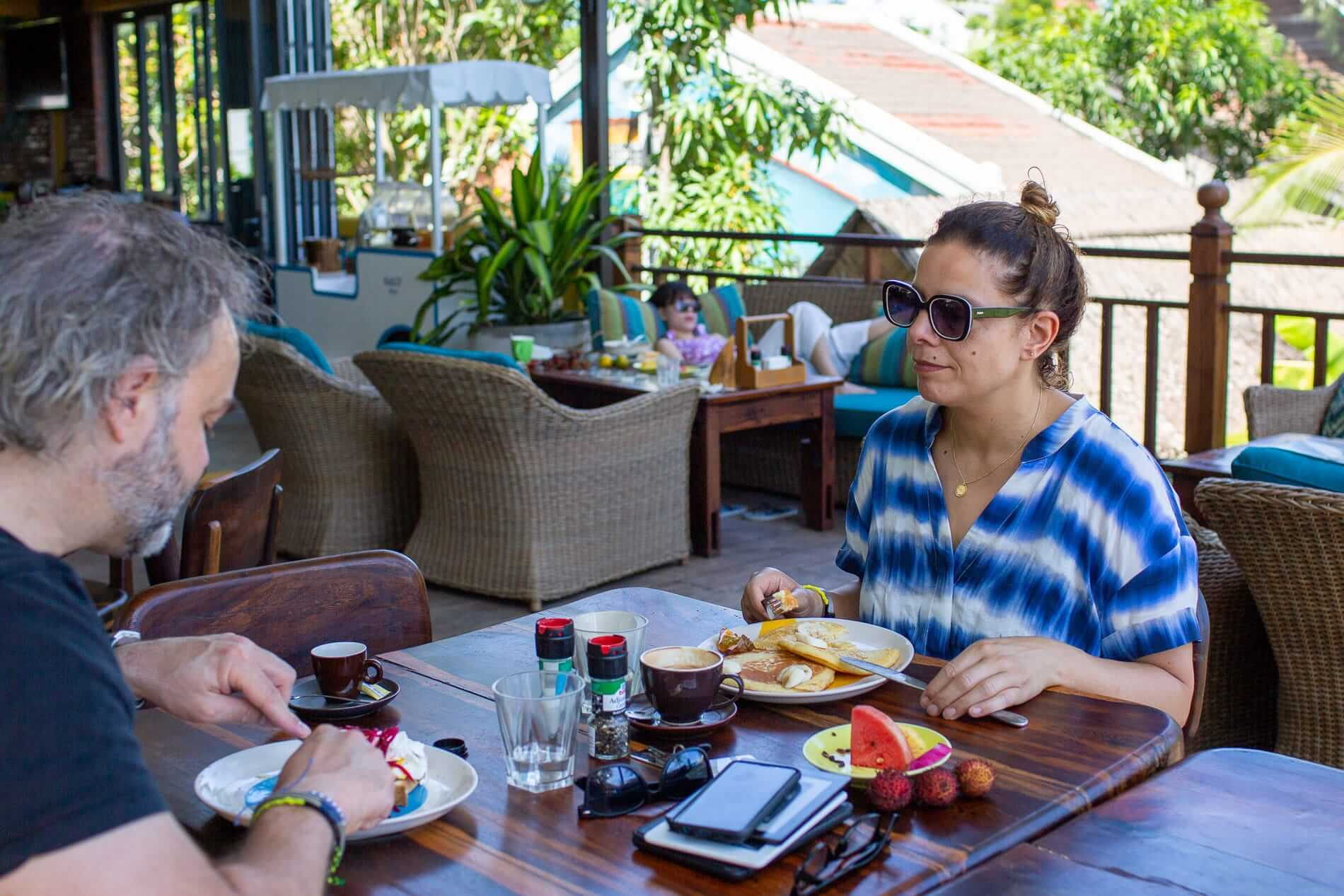 people eating breakfast in Hoi An