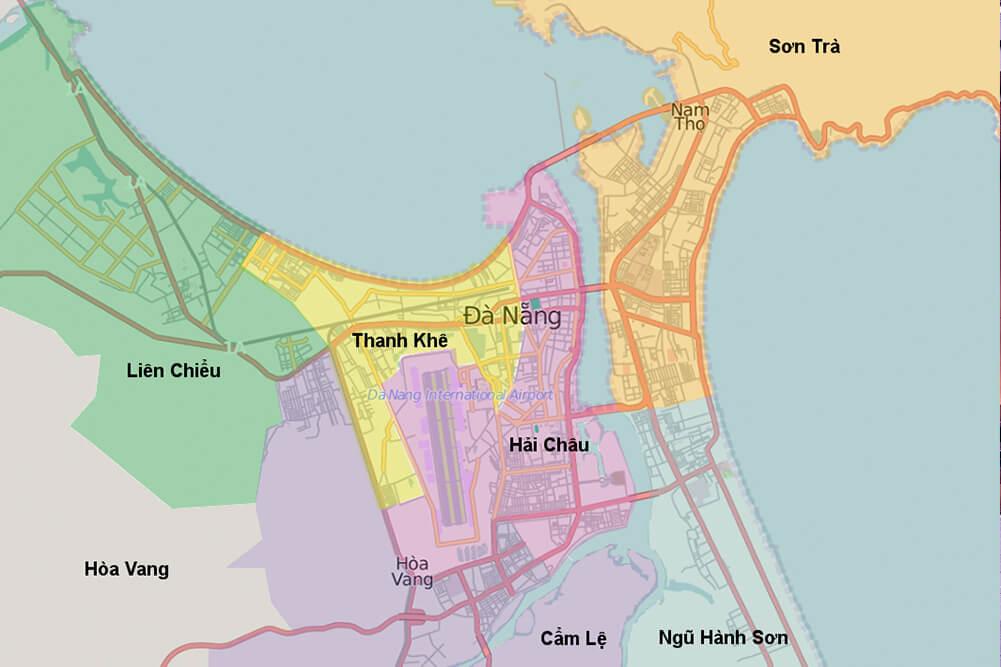 Map of Da Nang