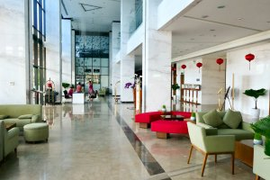 lobby at the Grand Toruane Hotel