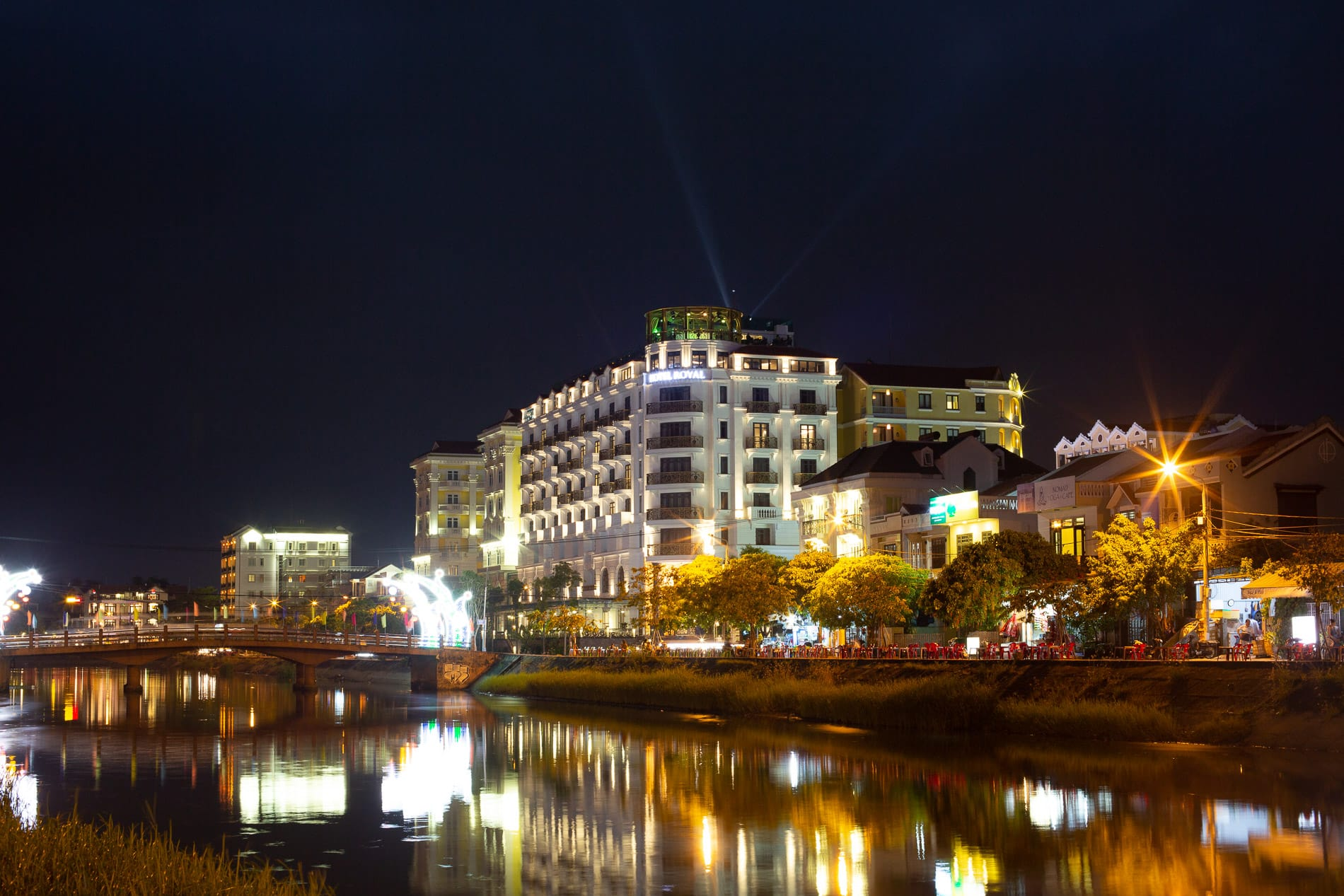 Night view of Hotel Royal Hoi An