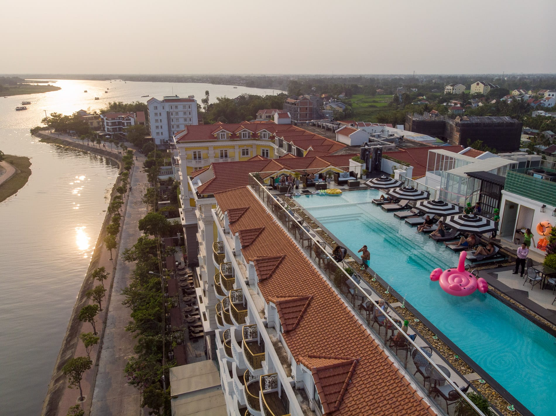 rooftop pool in Hoi An