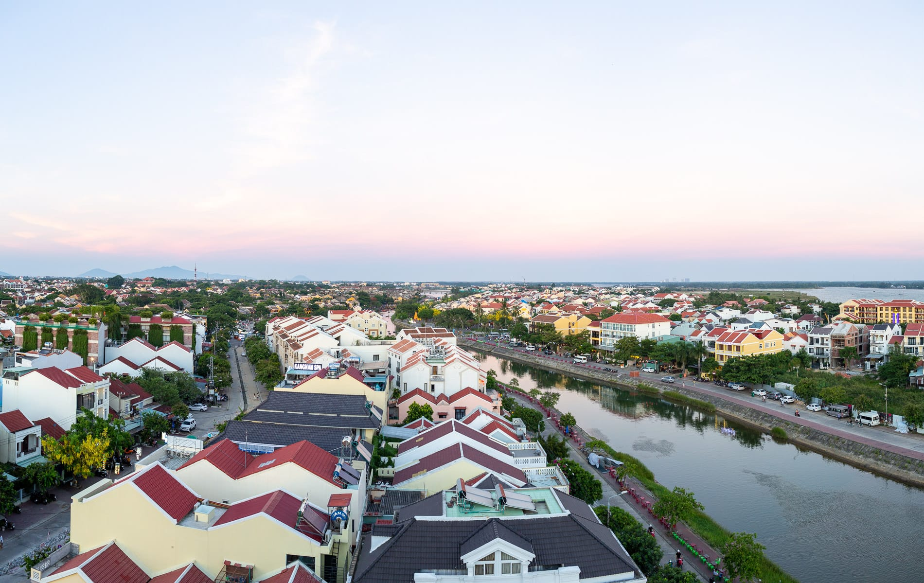 Rooftop view of Hoi An