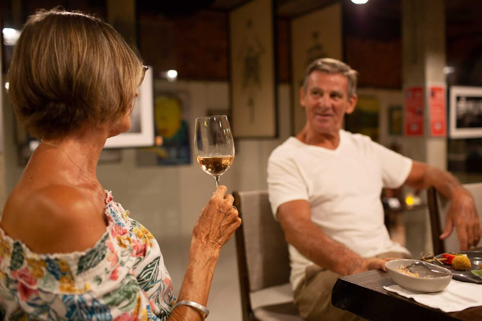 Sample some of The Art Space's 128 different wines at 'Wine Me Down' Fridays