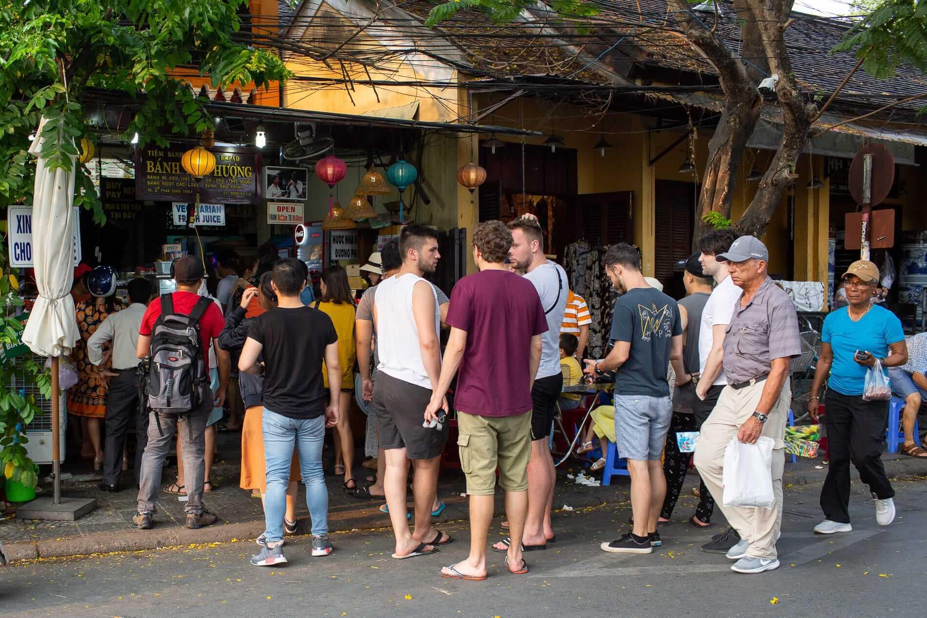 Line at Banh Mi Phuong