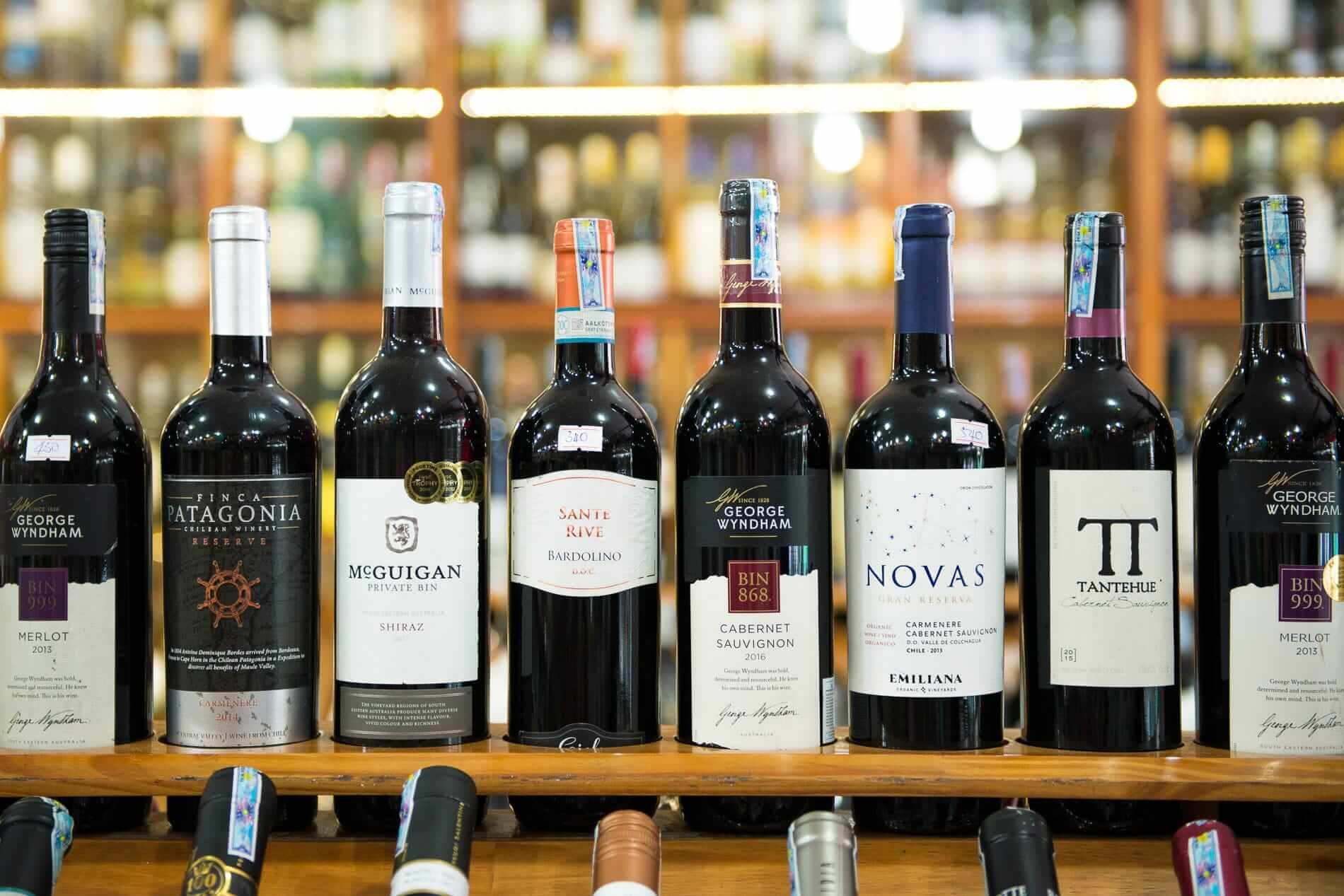 variety of wine available Bich Thuy Wine Shop