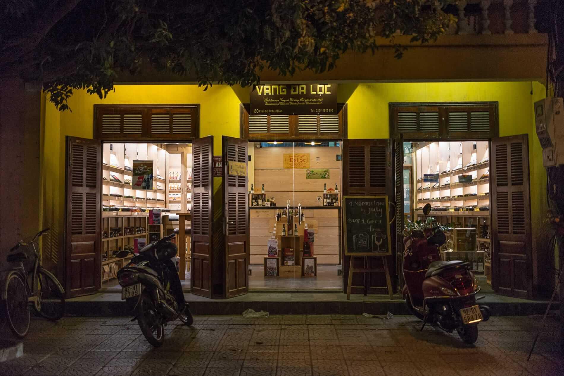 The shopfront of Daloc Wine at 60 Phan Boi Chau Street