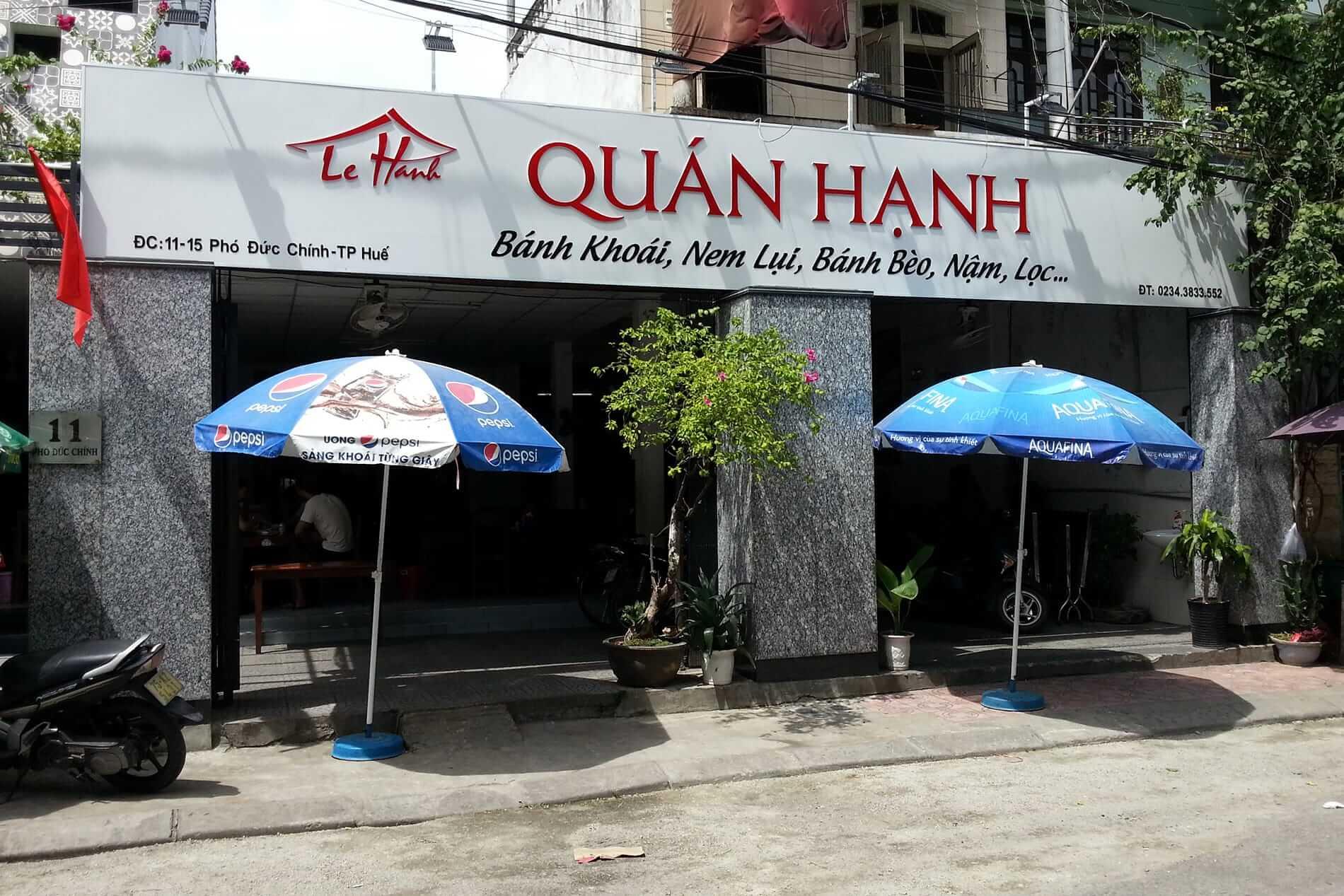 Outside the Hanh Restaurant