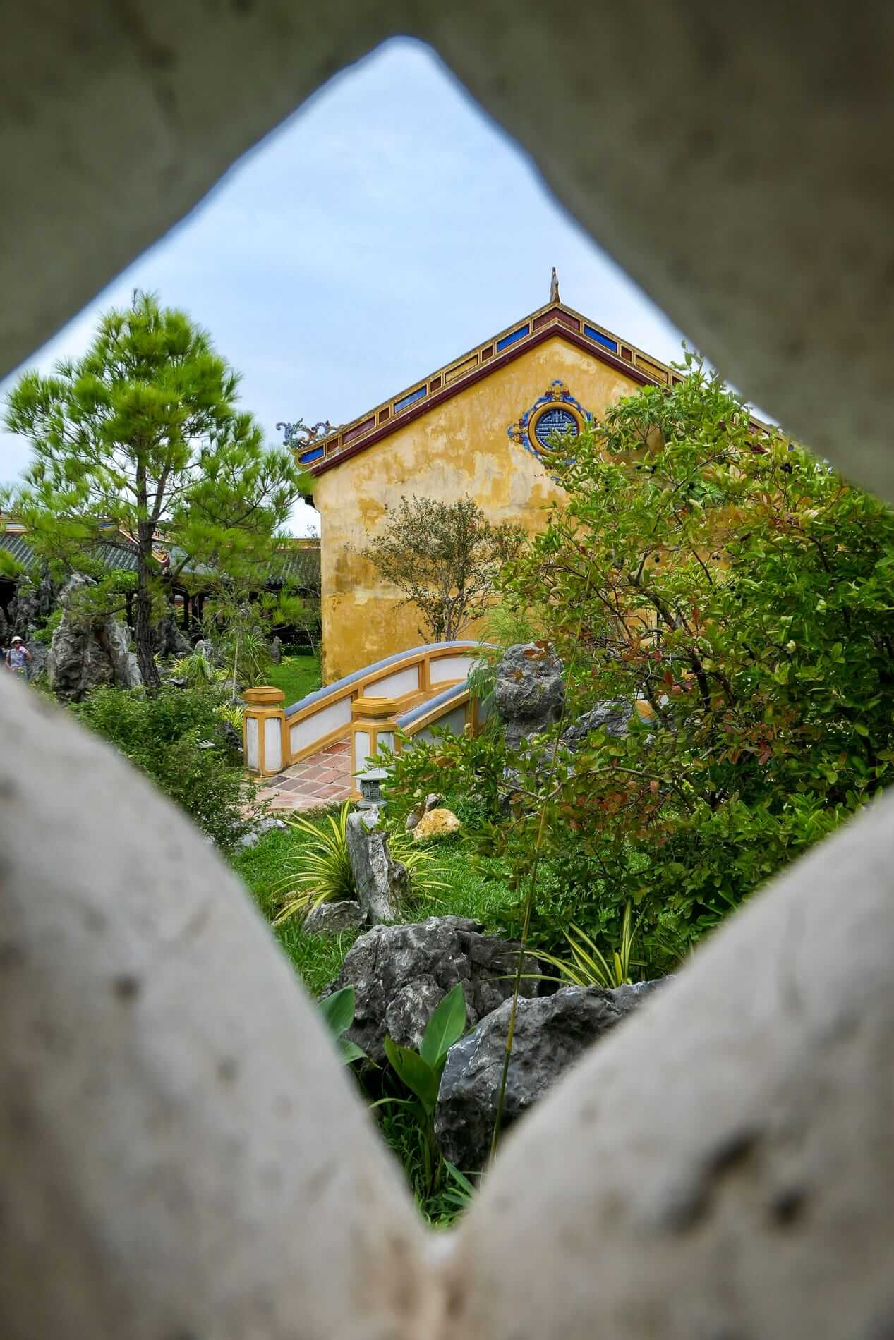 Ancient architecture and intricate details of the Hue Citadel