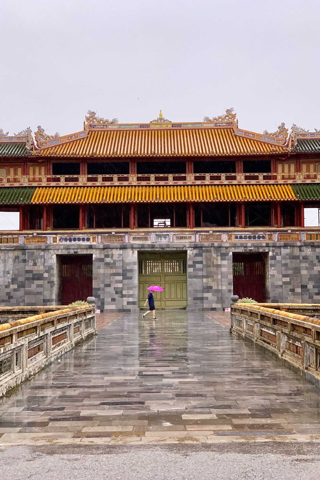 A rainy day at the Hue Citadel