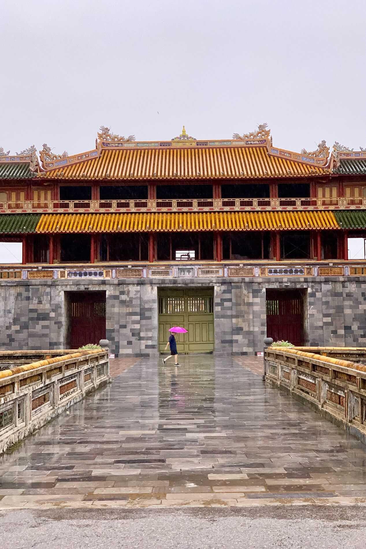 A rainy day at the Hue Citadel