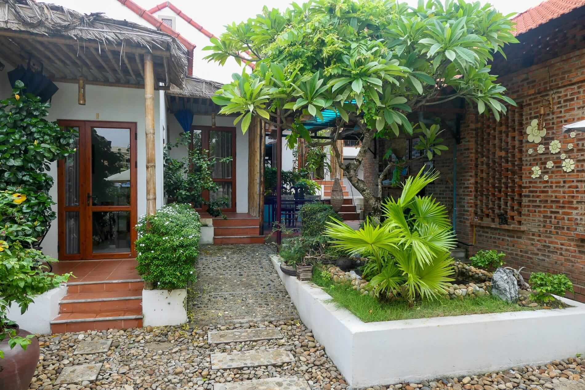 Private bungalows in a garden setting