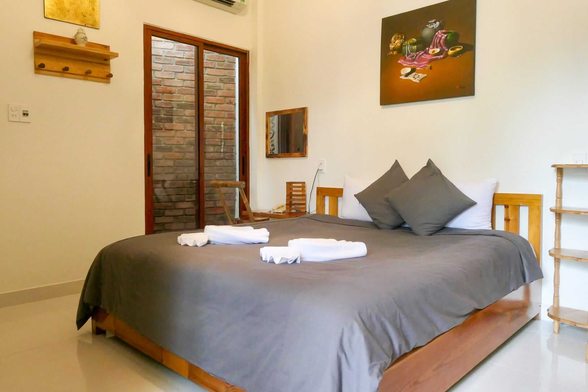 The simple rooms at Hue Riverside Villa